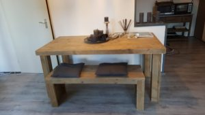 Rbhoutwerk steigerhout tafel bankje
