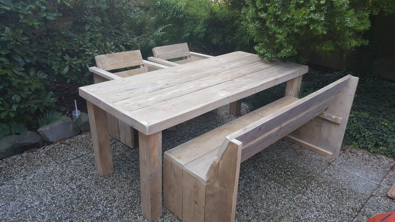 rbhoutwerk steigerhout tafel stoelen en bank