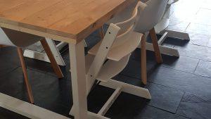rbhoutwerk steigerhout eettafel witte poten