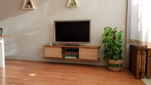 rbhoutwerk tv-meubel tv-kast hangend