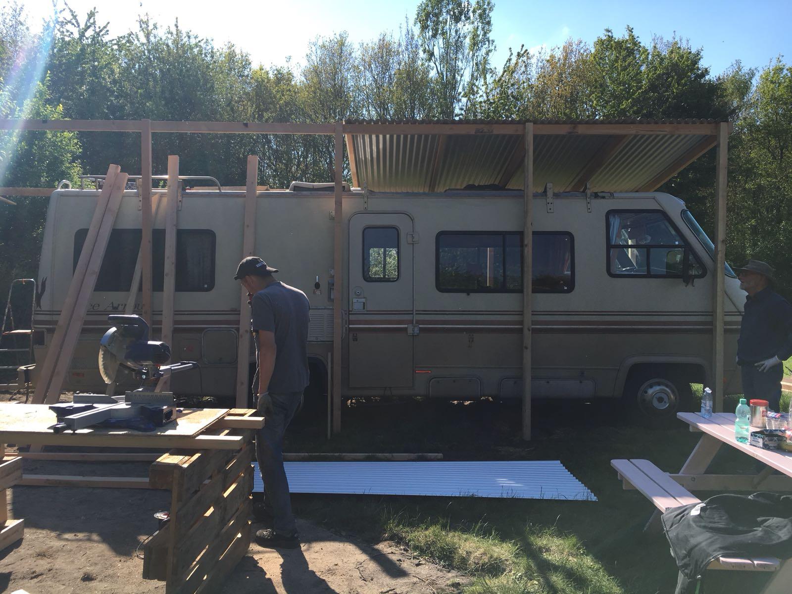 rbhoutwerk camper overkapping